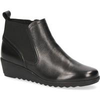 Zapatos Mujer Botines Caprice Botines Planos Negro Black