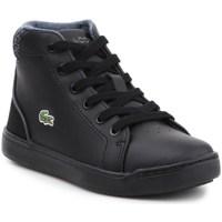 Zapatos Niños Zapatillas altas Lacoste Explorateur Lace 317 1 Cac Negros