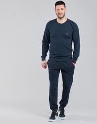 textil Hombre Conjuntos chándal Emporio Armani STRETCH TERRY Marino