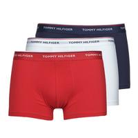 Ropa interior Hombre Boxer Tommy Hilfiger TRUNK X3 Blanco / Rojo / Marino