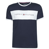 textil Hombre Camisetas manga corta Tommy Hilfiger CN SS TEE LOGO FLAG Marino / Blanco