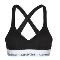 Ropa interior Mujer Sujetador Calvin Klein Jeans MODERN COTTON BRALETTE LIFT Negro