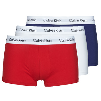 Ropa interior Hombre Boxer Calvin Klein Jeans RISE TRUNK X3 Marino / Blanco / Rojo