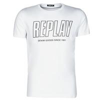 textil Hombre Camisetas manga corta Replay M3395-2660 Blanco