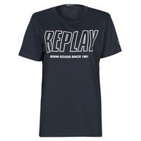 textil Hombre Camisetas manga corta Replay M3395-2660 Marino