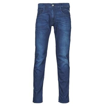 textil Hombre Vaqueros slim Replay ANBASS Pants Azul / Medio
