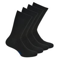 Accesorios Hombre Calcetines DIM MI CHAUSSETTE COTON X4 Negro