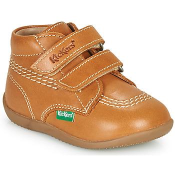 Zapatos Niño Zapatillas altas Kickers BILLY VELK-2 Camel