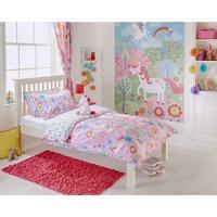 Casa Niños Funda de edredón Riva Home Taille 1: Lit bébé RV1054 Rosa