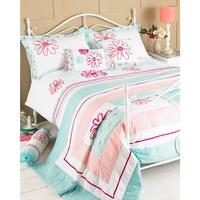 Casa Ropa de cama Riva Home 240 x 260 cm RV455 Duck egg/rosa