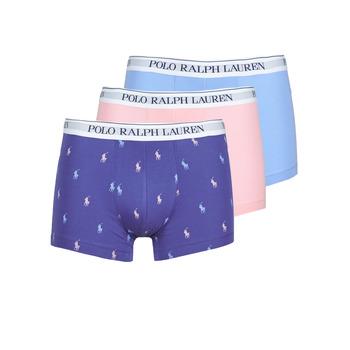 Ropa interior Hombre Boxer Polo Ralph Lauren CLASSIC TRUNK X3 Rosa / Azul / Marino