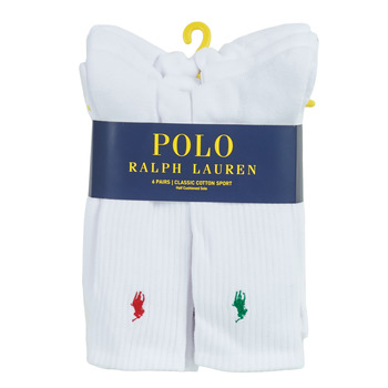 Accesorios Hombre Calcetines Polo Ralph Lauren ASX110 6 PACK COTTON Blanco