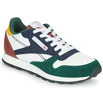 Zapatos Niños Zapatillas bajas Reebok Classic CL LTHR Blanco / Verde / Azul