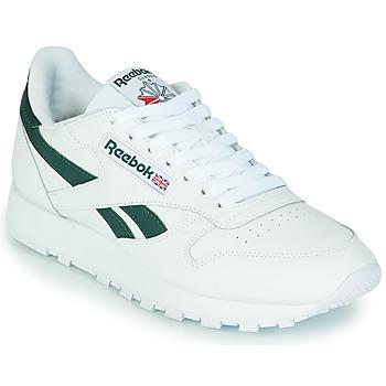 Zapatos Zapatillas bajas Reebok Classic CL LTHR Blanco / Verde