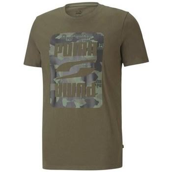 textil Hombre Camisetas manga corta Puma Rebel Camo Graphic Tee Verdes