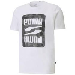 textil Hombre Camisetas manga corta Puma Rebel Camo Graphic Tee Blanco
