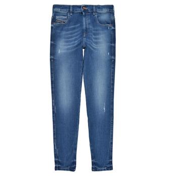 textil Niña Vaqueros slim Diesel D-SLANDY HIGH Azul