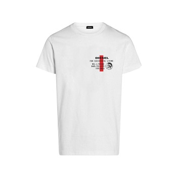 textil Niño Camisetas manga corta Diesel TDIEGOS Blanco