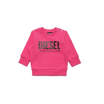 textil Niña Sudaderas Diesel SCREWDIVISION LOGOB Rosa