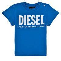 textil Niño Camisetas manga corta Diesel TJUSTLOGOB Azul