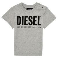 textil Niños Camisetas manga corta Diesel TJUSTLOGOB Gris