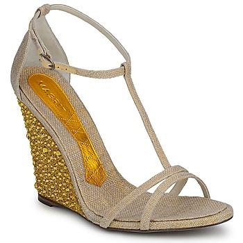 Zapatos Mujer Sandalias Magrit JOAQUINA Beige / DORADO