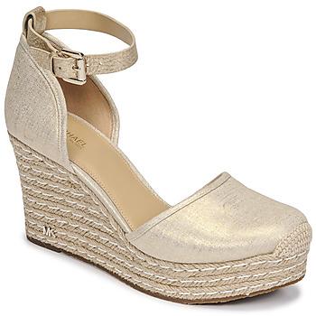 Zapatos Mujer Sandalias MICHAEL Michael Kors KENDRICK WEDGE Oro