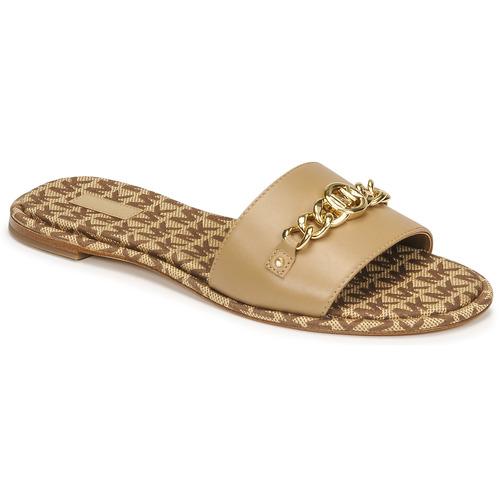 Zapatos Mujer Zuecos (Mules) MICHAEL Michael Kors RINA SLIDE Camel