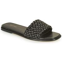 Zapatos Mujer Zuecos (Mules) MICHAEL Michael Kors AMELIA FLAT SANDAL Negro