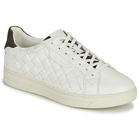 Zapatos Mujer Zapatillas bajas MICHAEL Michael Kors KEATING LACE UP Blanco / Marrón