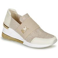 Zapatos Mujer Zapatillas bajas MICHAEL Michael Kors FELIX TRAINER EXTREME Champaña