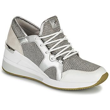 Zapatos Mujer Zapatillas bajas MICHAEL Michael Kors LIV TRAINER Plata