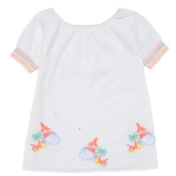 textil Niña Vestidos cortos Billieblush / Billybandit U12657-10B Blanco