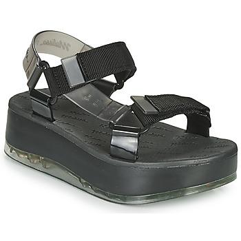Zapatos Mujer Sandalias Melissa PAPETE PLATFORM + RIDER Negro / Gris
