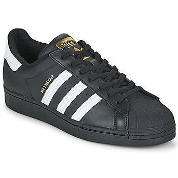 Zapatos Zapatillas bajas adidas Originals SUPERSTAR Negro / Blanco