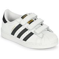 Zapatos Niños Zapatillas bajas adidas Originals SUPERSTAR CF C Blanco / Negro