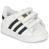 Zapatos Niños Zapatillas bajas adidas Originals SUPERSTAR CF I Blanco / Negro