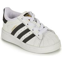 Zapatos Niños Zapatillas bajas adidas Originals SUPERSTAR EL I Blanco / Negro