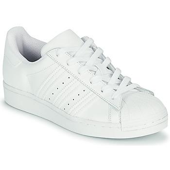Zapatos Niños Zapatillas bajas adidas Originals SUPERSTAR J Blanco