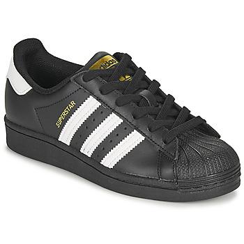 Zapatos Niños Zapatillas bajas adidas Originals SUPERSTAR J Negro / Blanco