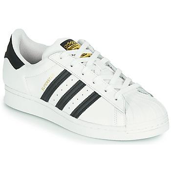 Zapatos Niños Zapatillas bajas adidas Originals SUPERSTAR J Blanco / Negro