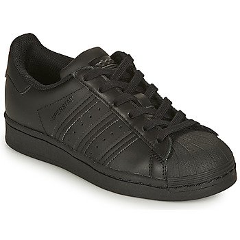 Zapatos Niños Zapatillas bajas adidas Originals SUPERSTAR J Negro