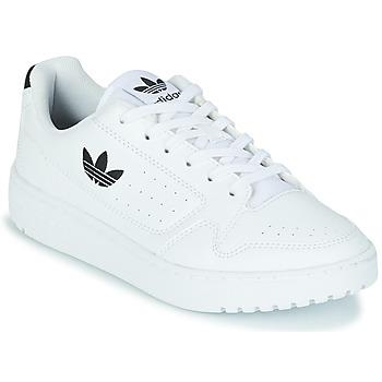 Zapatos Niños Zapatillas bajas adidas Originals NY 92 J Blanco / Negro