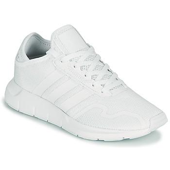 Zapatos Niños Zapatillas bajas adidas Originals SWIFT RUN X J Blanco
