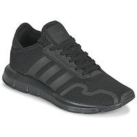 Zapatos Niños Zapatillas bajas adidas Originals SWIFT RUN X J Negro