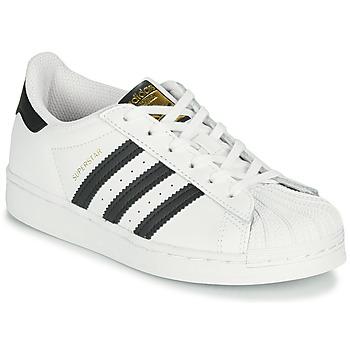 Zapatos Niños Zapatillas bajas adidas Originals SUPERSTAR C Blanco / Negro