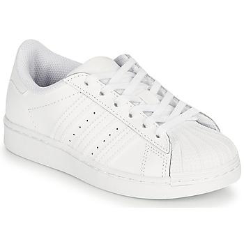 Zapatos Niños Zapatillas bajas adidas Originals SUPERSTAR C Blanco