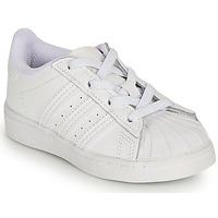 Zapatos Niña Zapatillas bajas adidas Originals SUPERSTAR EL I Blanco / Iridescent