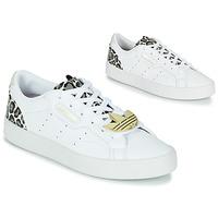 Zapatos Mujer Zapatillas bajas adidas Originals adidas SLEEK W Blanco / Leopardo