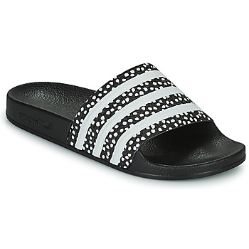 Zapatos Mujer Chanclas adidas Originals ADILETTE W Negro / Blanco